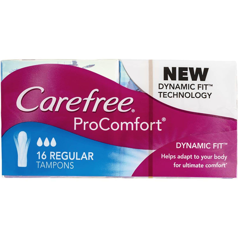 Carefree Procomfort Tampons Regular, 16 Each