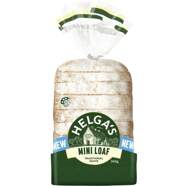 Helga's Traditional White Mini Loaf, 360 Gram