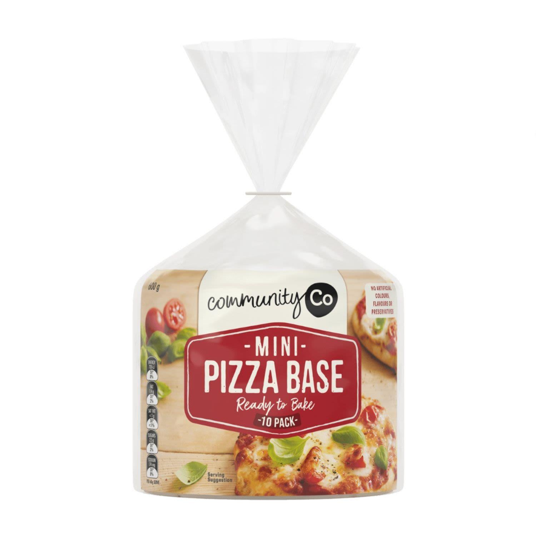 Community Co Mini Pizza Bases, 600 Gram