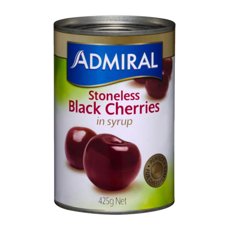 Admiral Stoneless Black Cherries In Syrup, 425 Gram