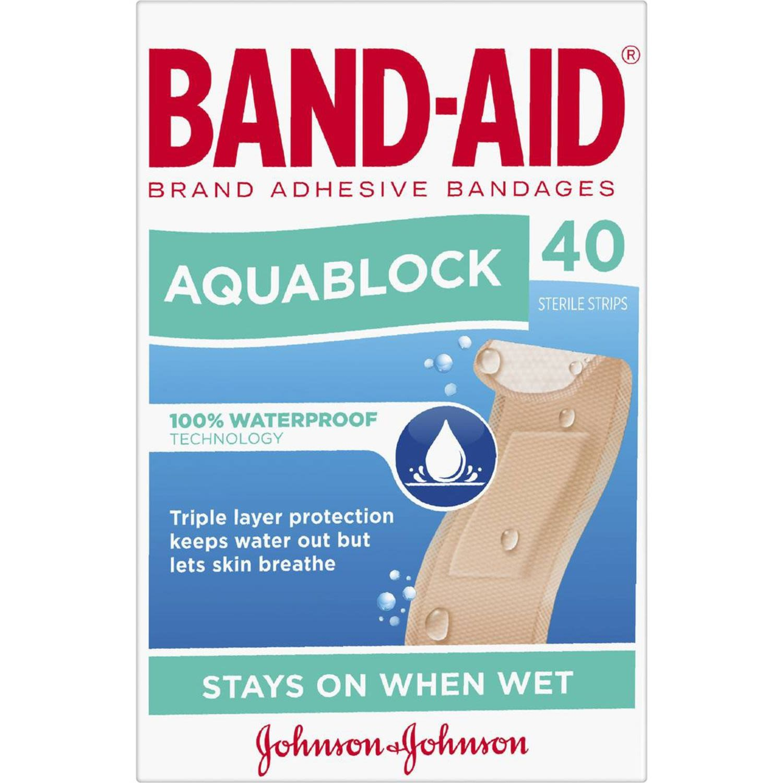 Band Aid Aquablock Regular, 40 Each