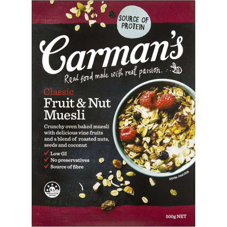 Carman's Classic Fruit & Nut Muesli, 500 Gram