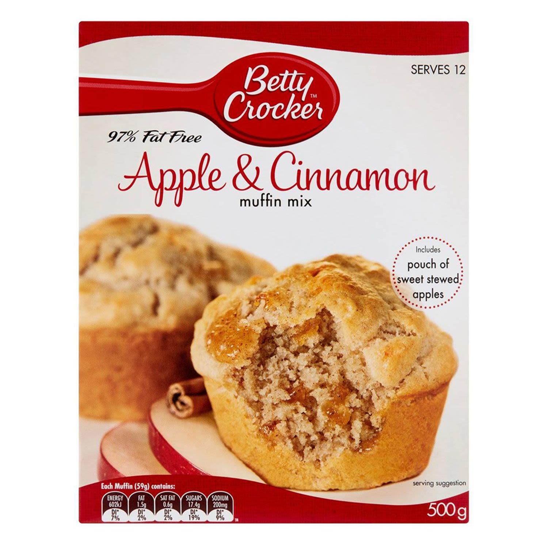 Betty Crocker Apple & Cinnamon 97% Fat Free Muffin Mix, 500 Gram