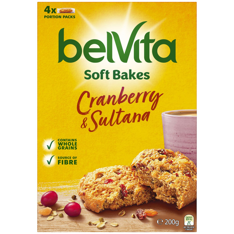 Belvita Soft Bake Cranberry & Sultana, 200 Gram