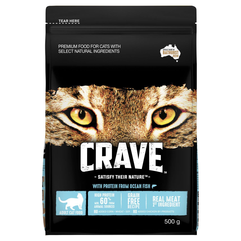 Crave Dry Cat Food Ocean Fish Bag, 500 Gram