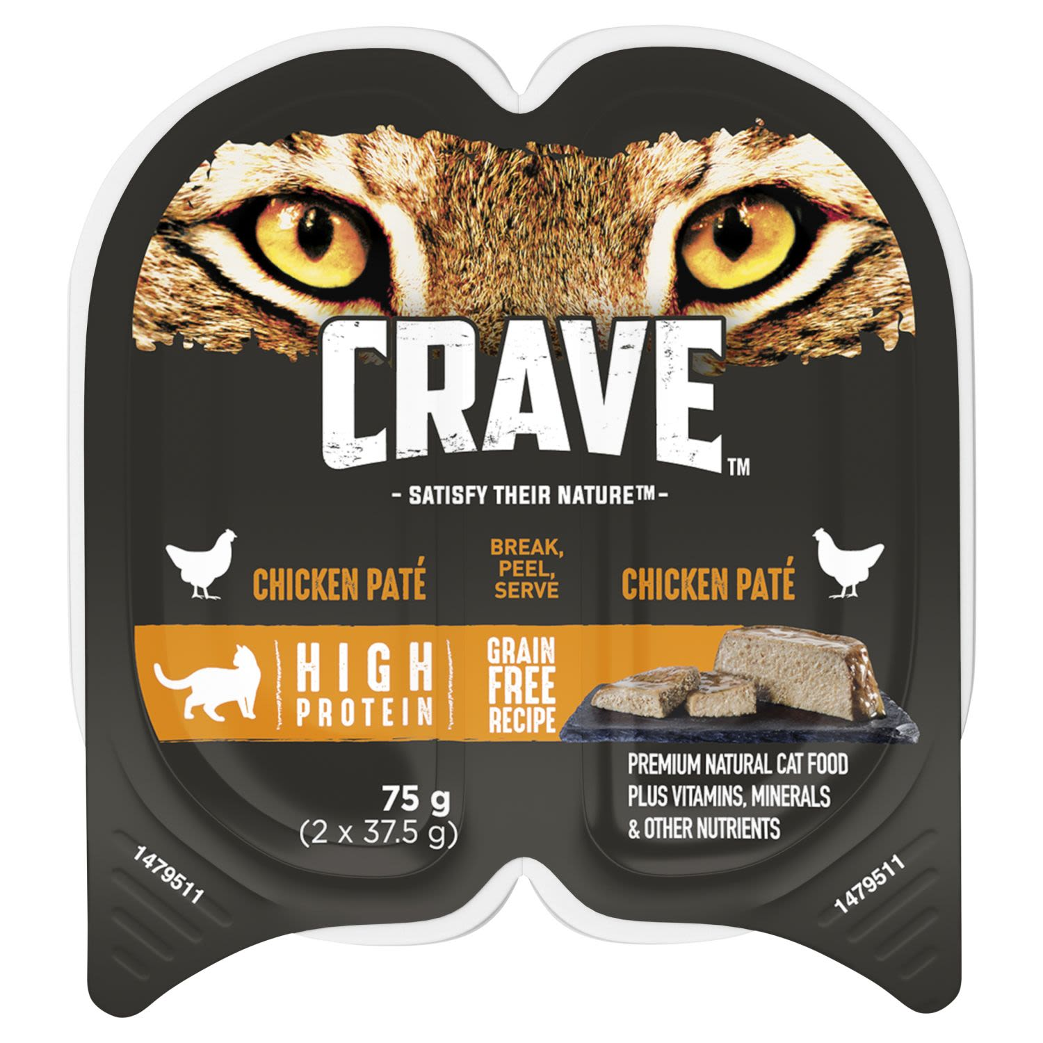 Crave Wet Cat Food Chicken Pate Tray, 2 Each