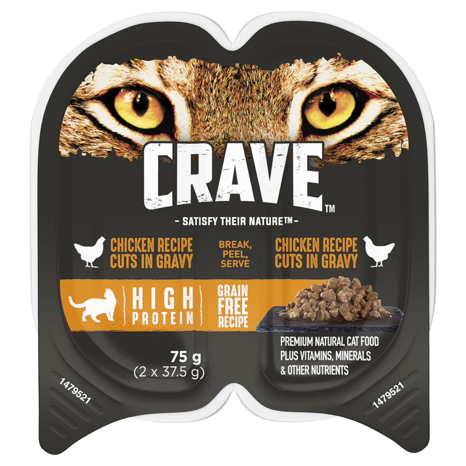 Crave Wet Cat Food Chicken Cuts in Gravy Tray, 2 Each