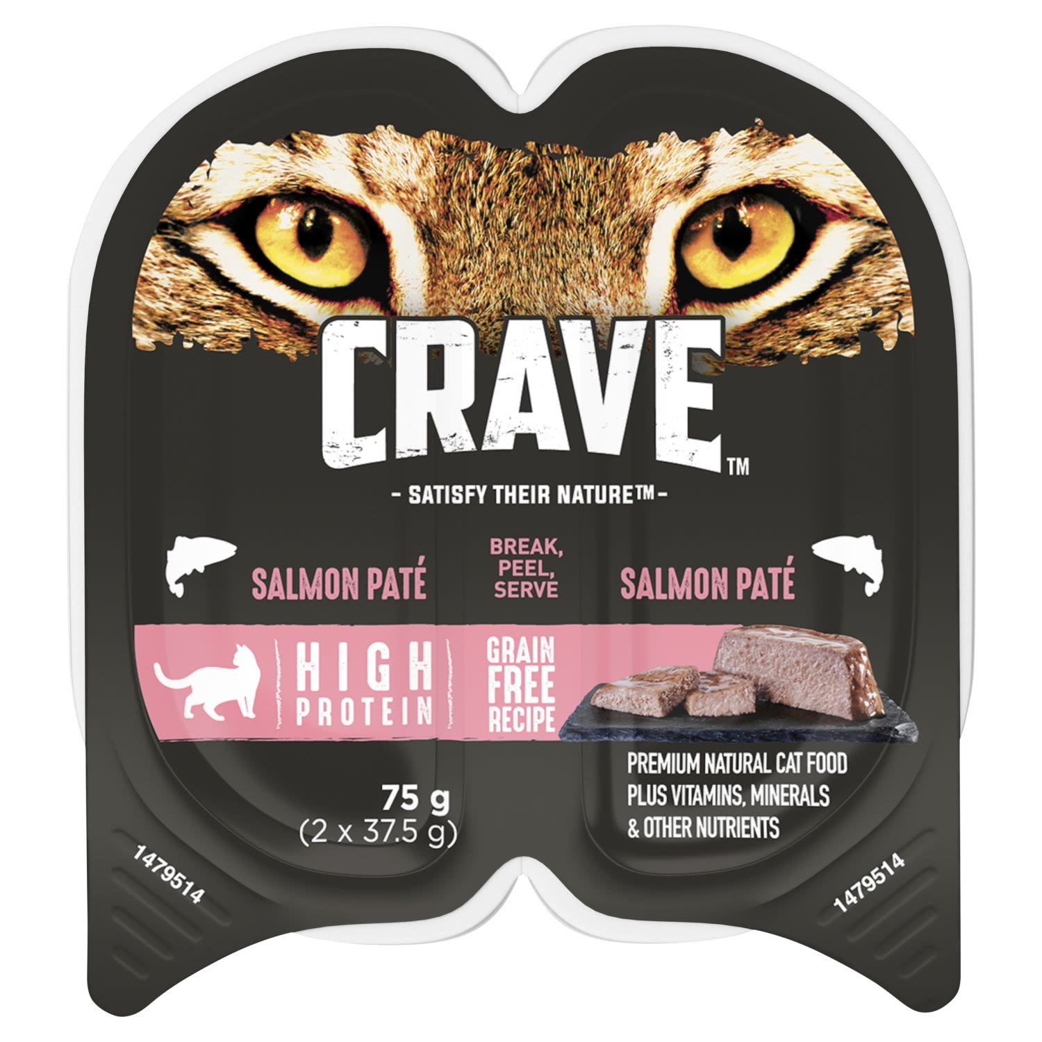 Crave Wet Cat Food Salmon Pate Tray, 2 Each
