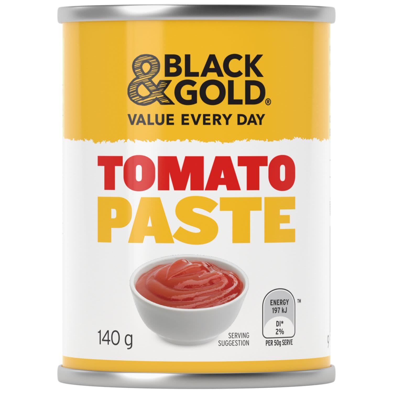 Black & Gold Tomato Paste, 140 Gram