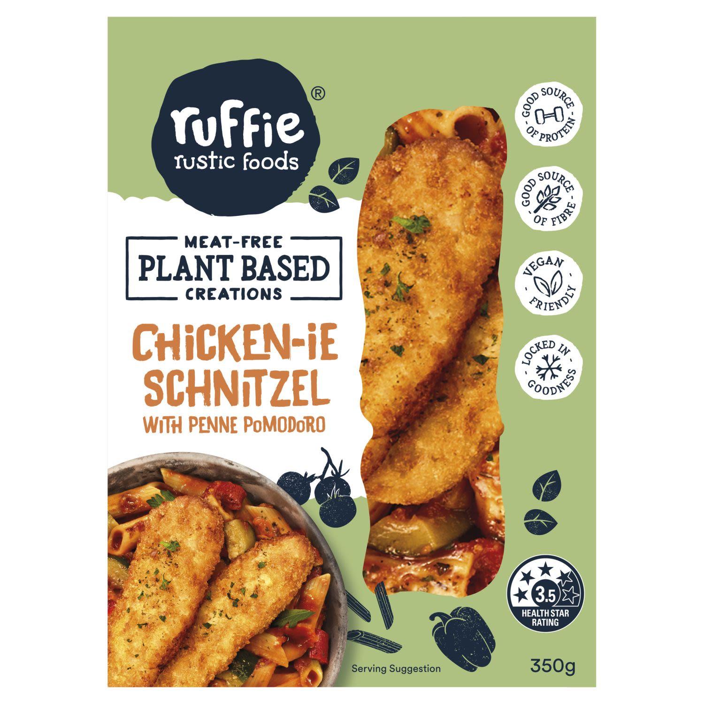 Ruffie Plant Based Chickenie Schnitzel With Penne Pomodoro, 350 Gram