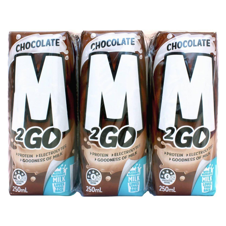 M2Go Chocolate Flavoured Milk, 6 Each