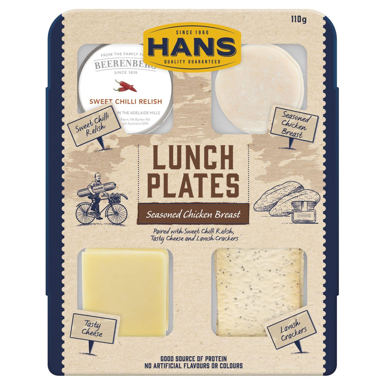 Hans Lunch Plates Seasoned Chicken Breast, 110 Gram