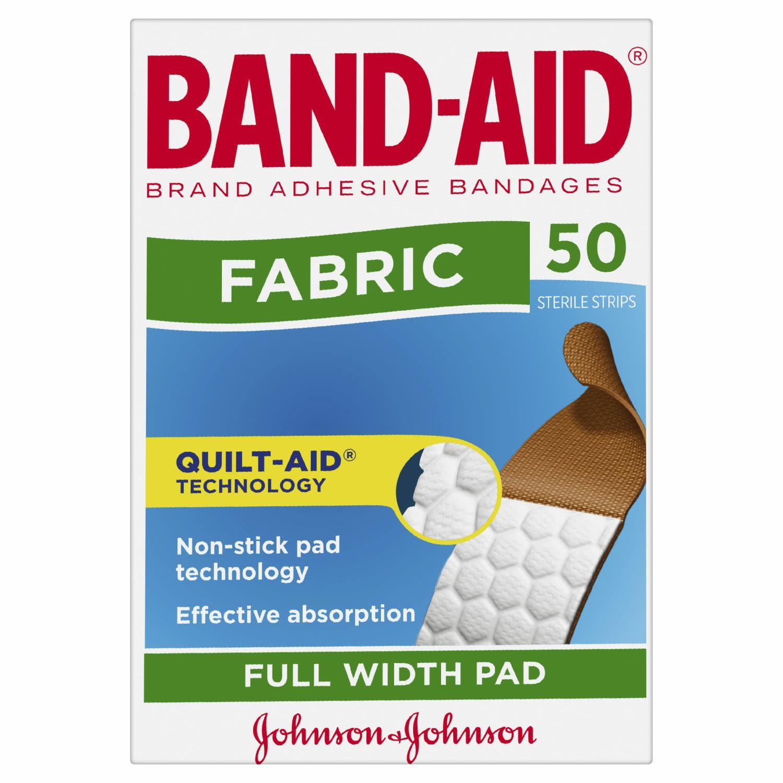 Band-Aid Fabric Strips, 50 Each